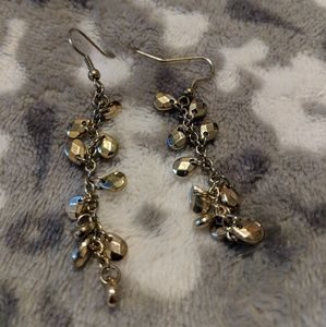 Gold dangly earrings